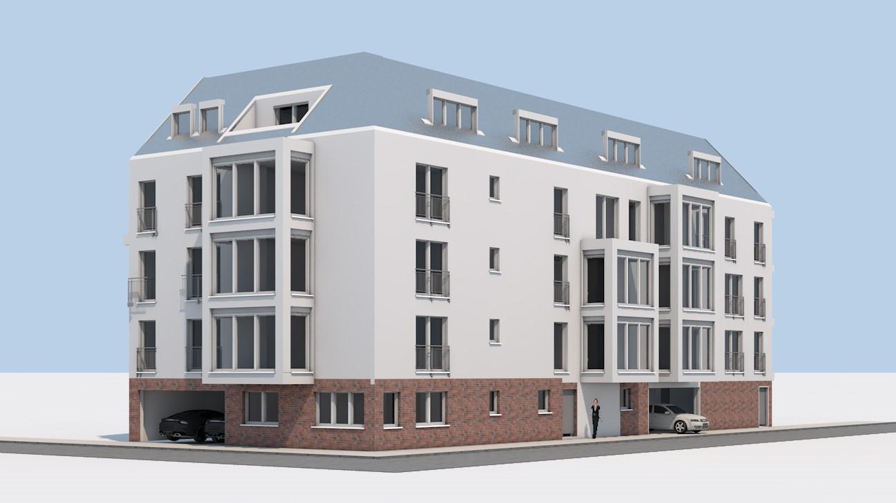 Neubau Mehrfamilienhaus in Krefeld-Stadtmitte