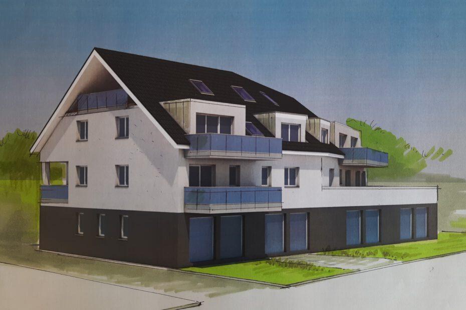 Neubau von Mehrfamilienhaus in Bottrop-Fuhlenbrock