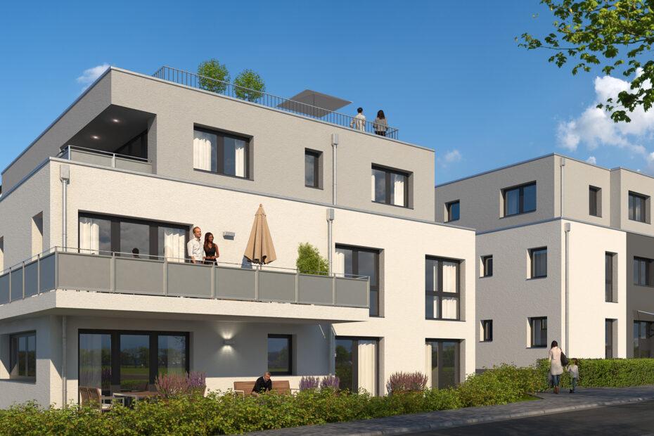 Neubau von zwei Mehrfamilienhäuser in Essen-Werden